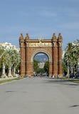 Ευρώπη - Arc de Triomf στη Βαρκελώνη, Ισπανία Στοκ Εικόνες