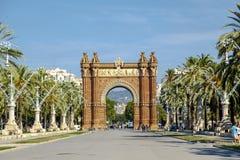Ευρώπη - Arc de Triomf στη Βαρκελώνη, Ισπανία Στοκ εικόνα με δικαίωμα ελεύθερης χρήσης