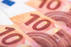 ευρώ δέκα τραπεζογραμματίων Στοκ Εικόνες