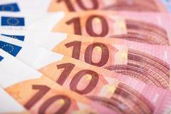 ευρώ δέκα τραπεζογραμματίων Στοκ φωτογραφία με δικαίωμα ελεύθερης χρήσης