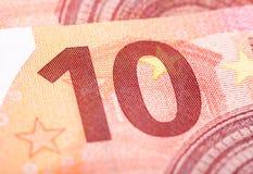 ευρώ δέκα τραπεζογραμμα&ta Στοκ Φωτογραφία