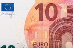 ευρώ δέκα τραπεζογραμμα&ta Στοκ φωτογραφία με δικαίωμα ελεύθερης χρήσης