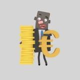 Ευρώ ανταλλαγής νομίσματος Στοκ Εικόνες