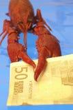 ευρώ αστακών Στοκ Εικόνα