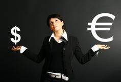 ευρώ δολαρίων Στοκ Εικόνες