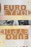 ευρώ δολαρίων Στοκ Εικόνα