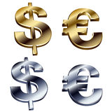 ευρώ δολαρίων Διανυσματική απεικόνιση