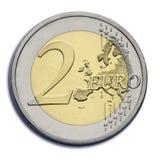 ευρώ δύο νομισμάτων Στοκ φωτογραφία με δικαίωμα ελεύθερης χρήσης