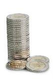 ευρώ δύο νομισμάτων Στοκ φωτογραφίες με δικαίωμα ελεύθερης χρήσης
