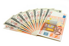 Ευρώ και δολάρια Στοκ εικόνες με δικαίωμα ελεύθερης χρήσης