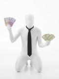 Ευρώ και δολάριο στην ισορροπία Στοκ Φωτογραφίες