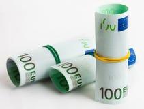 Ευρώ με το λάστιχο Στοκ Φωτογραφίες
