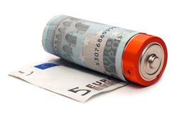 ευρώ μπαταριών Στοκ φωτογραφίες με δικαίωμα ελεύθερης χρήσης