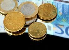 ευρώ νομίσματος στοκ φωτογραφία