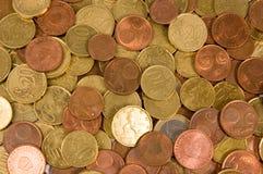 ευρώ νομισμάτων ανασκόπησ&eta Στοκ φωτογραφία με δικαίωμα ελεύθερης χρήσης