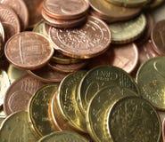 ευρώ νομισμάτων ανασκόπησ&eta Στοκ εικόνα με δικαίωμα ελεύθερης χρήσης