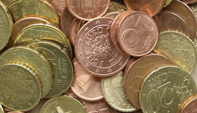 ευρώ νομισμάτων ανασκόπησ&eta Στοκ Φωτογραφίες