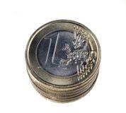 ευρώ νομισμάτων που απομ&omicr Στοκ φωτογραφίες με δικαίωμα ελεύθερης χρήσης