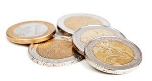 ευρώ νομισμάτων που απομ&omicr Στοκ Εικόνα