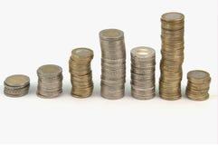 ευρώ νομισμάτων που συσσ Στοκ Φωτογραφίες