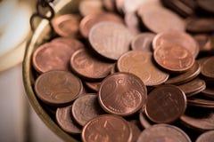 1 2 5 ευρώ νομισμάτων σεντ σεντ εδώ Στοκ Φωτογραφία