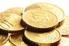 ευρώ νομισμάτων σεντ Στοκ Εικόνες
