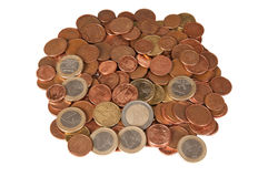 ευρώ νομισμάτων Στοκ Εικόνες