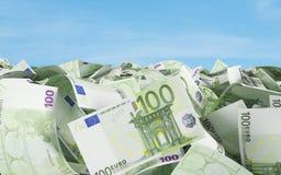 100 ευρώ λογαριασμών Στοκ Φωτογραφίες