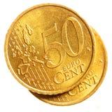 ευρώ πενήντα νομισμάτων σε&n Στοκ Εικόνες