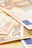 ευρώ πενήντα τραπεζογραμ&m στοκ εικόνες