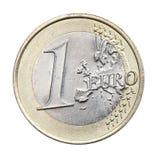 1 ευρώ που απομονώνεται Στοκ Φωτογραφίες