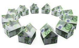 Ευρώ σπιτιών χρημάτων Στοκ φωτογραφίες με δικαίωμα ελεύθερης χρήσης