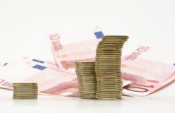 ευρώ στηλών νομισμάτων ανα&sig Στοκ εικόνες με δικαίωμα ελεύθερης χρήσης