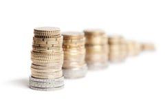 ευρώ στηλών νομισμάτων Στοκ Εικόνες