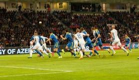 ΕΥΡΏ 2016 Σλοβακία UEFA - αντιστοιχία της Ουκρανίας στις 8 Σεπτεμβρίου 2015 στοκ εικόνα