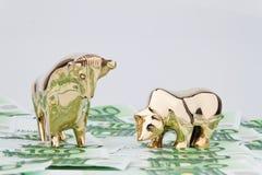 ευρώ ταύρων τραπεζογραμμ&al Στοκ φωτογραφία με δικαίωμα ελεύθερης χρήσης