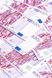 500 ευρώ τραπεζογραμματίων Πεντακόσια 5000 ρούβλια προτύπων χρημάτων λογαριασμών ανασκόπησης Στοκ Φωτογραφίες