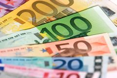ευρώ τραπεζογραμματίων Στοκ φωτογραφία με δικαίωμα ελεύθερης χρήσης
