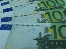 100 ευρώ τραπεζογραμματίων Στοκ Εικόνες