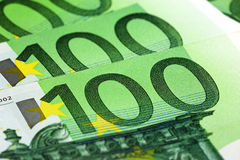 100 ευρώ τραπεζογραμματίων Στοκ Φωτογραφίες