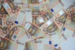 50 ευρώ τραπεζογραμματίων Στοκ Εικόνα