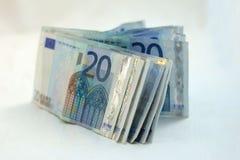 20 ευρώ τραπεζογραμματίων Στοκ Εικόνα