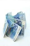 20 ευρώ τραπεζογραμματίων Στοκ εικόνα με δικαίωμα ελεύθερης χρήσης