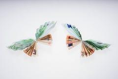 Ευρώ υπό μορφή πεταλούδων Στοκ Φωτογραφίες
