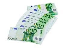 Ευρώ χρημάτων που απομονώνεται Στοκ Φωτογραφίες