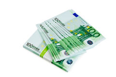 Ευρώ χρημάτων που απομονώνεται Στοκ Φωτογραφία
