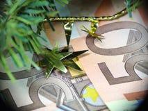 ευρώ Χριστουγέννων Στοκ Εικόνα