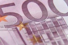 500 ευρώ Στοκ Φωτογραφία