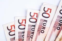 50 ευρώ Bill Στοκ φωτογραφίες με δικαίωμα ελεύθερης χρήσης