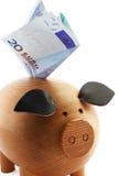 ευρώ piggy Στοκ εικόνα με δικαίωμα ελεύθερης χρήσης